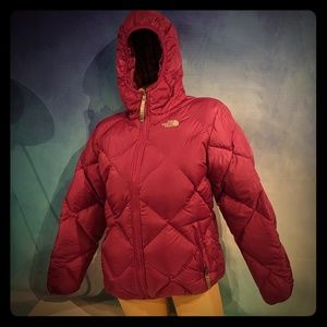North Face Down Puffer Coat Reversible XL/18 Mint!